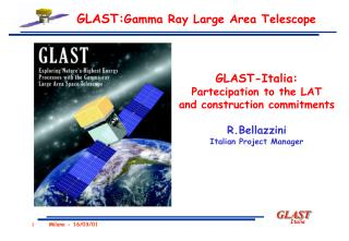 GLAST: Gamma Ray Large Area Telescope