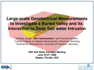Large-scale Geoelectrical Measurements to Investigate a Buried Valley and its