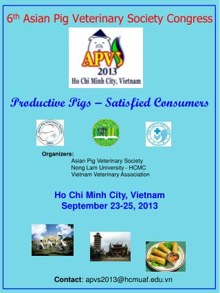 6 th  Asian Pig Veterinary Society Congress