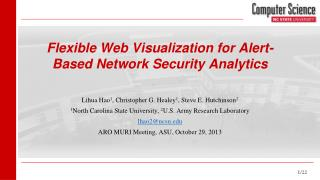 Flexible Web Visualization for Alert-Based Network Security Analytics