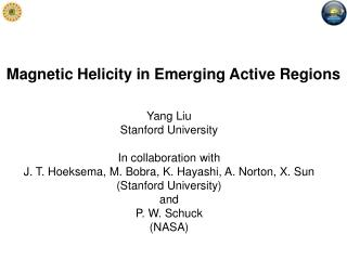 Magnetic Helicity in Emerging Active Regions