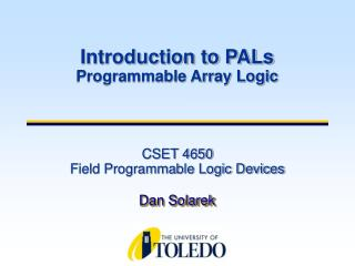 CSET 4650  Field Programmable Logic Devices