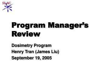 Program Manager�s Review
