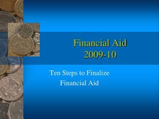 Financial Aid  2009-10
