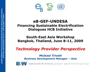 e8-GEF-UNDESA  Financing Sustainable Electrification  Dialogues HCB Initiative