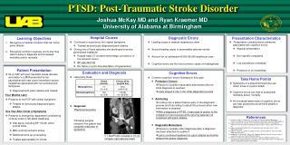 PTSD: Post-Traumatic Stroke Disorder