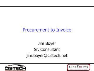 Procurement to Invoice