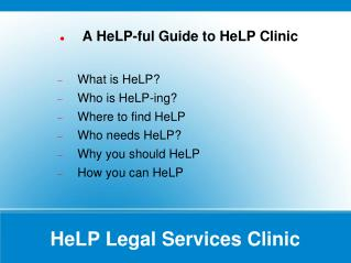 HeLP Legal Services Clinic