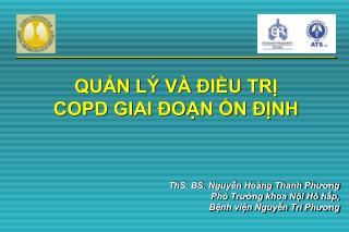 QUẢN LÝ VÀ ĐIỀU TRỊ  COPD GIAI ĐOẠN ỔN ĐỊNH