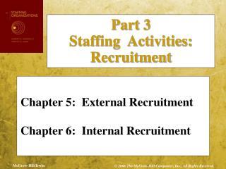 Chapter 5:  External Recruitment Chapter 6:  Internal Recruitment