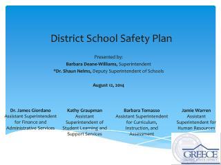 District School Safety Plan