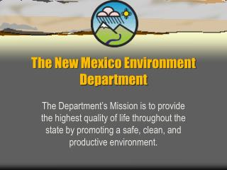The New Mexico Environment Department