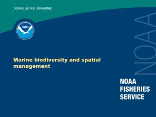 Marine biodiversity and spatial management
