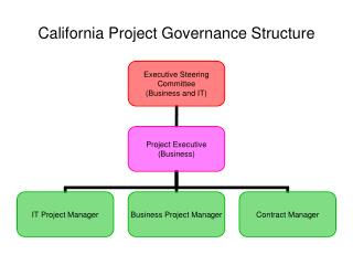 California Project Governance Structure