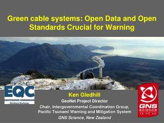 Green cable systems : Open Data and Open Standards Crucial for Warning