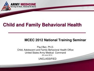 Child and Family Behavioral Health