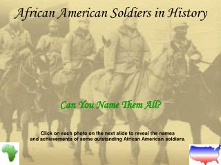 African American Soldiers in History