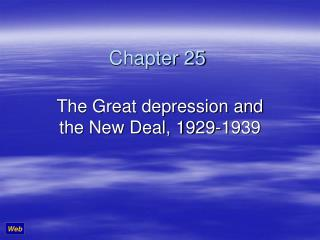 The Great depression and the New Deal, 1929-1939