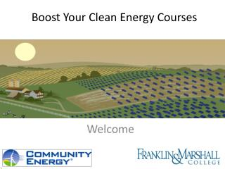 Boost Your Clean Energy Courses