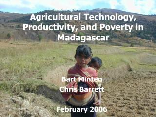 Agricultural Technology, Productivity, and Poverty in Madagascar