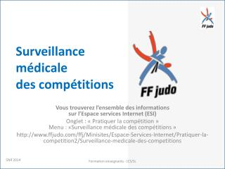 Surveillance médicale  des compétitions