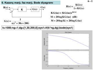 k= 1 000;ng=1;dg=[1,30,200,0];sys1=tf(k*ng,dg);bode(sys1)