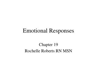 Emotional Responses