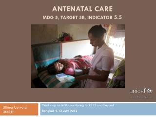 Antenatal care MDG 5, Target 5b, Indicator  5.5
