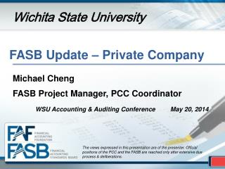 FASB Update – Private Company