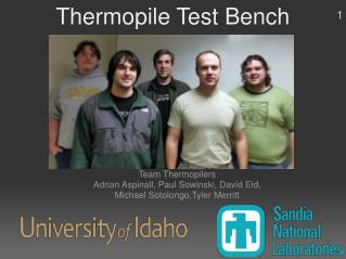 Thermopile Test Bench