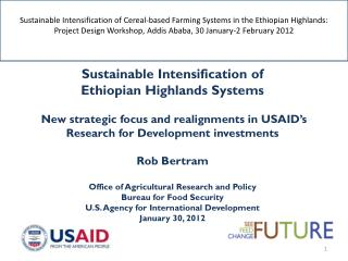 Sustainable Intensification of  Ethiopian Highlands Systems