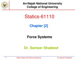Statics-61110