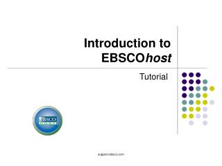 Introduction to  EBSCO host