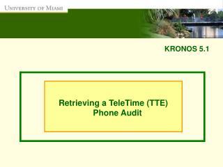 KRONOS 5.1
