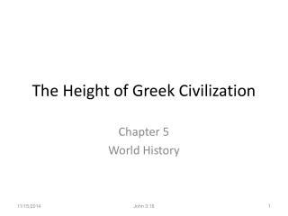 The Height of Greek Civilization