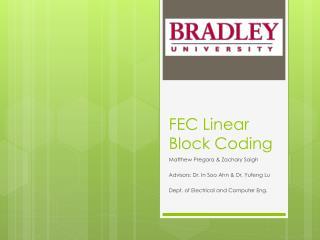 FEC Linear Block Coding