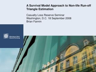 A Survival Model Approach to Non-life Run-off Triangle Estimation