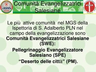 Comunit �  Evangeli z zatrici Salesiane