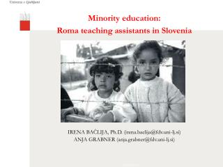 Minority education:  Roma teaching assistants in Slovenia