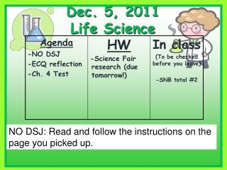 Dec. 5, 2011 Life Science