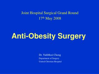 Anti-Obesity Surgery