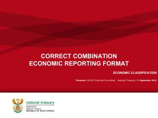CORRECT COMBINATION ECONOMIC REPORTING FORMAT
