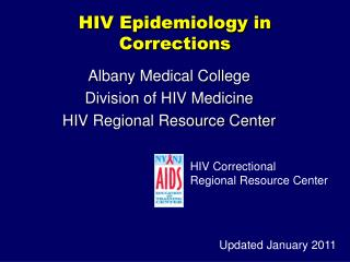 HIV Epidemiology in Corrections