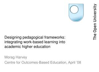 Designing pedagogical frameworks: integrating work-based learning into academic higher education