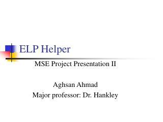 ELP Helper