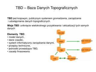 TBD – Baza Danych Topograficznych