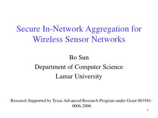 Secure In-Network Aggregation for Wireless Sensor Networks