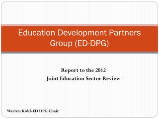 Education Development Partners Group (ED-DPG)