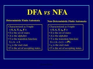 DFA  vs  NFA
