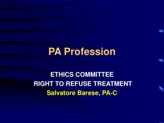 PA Profession